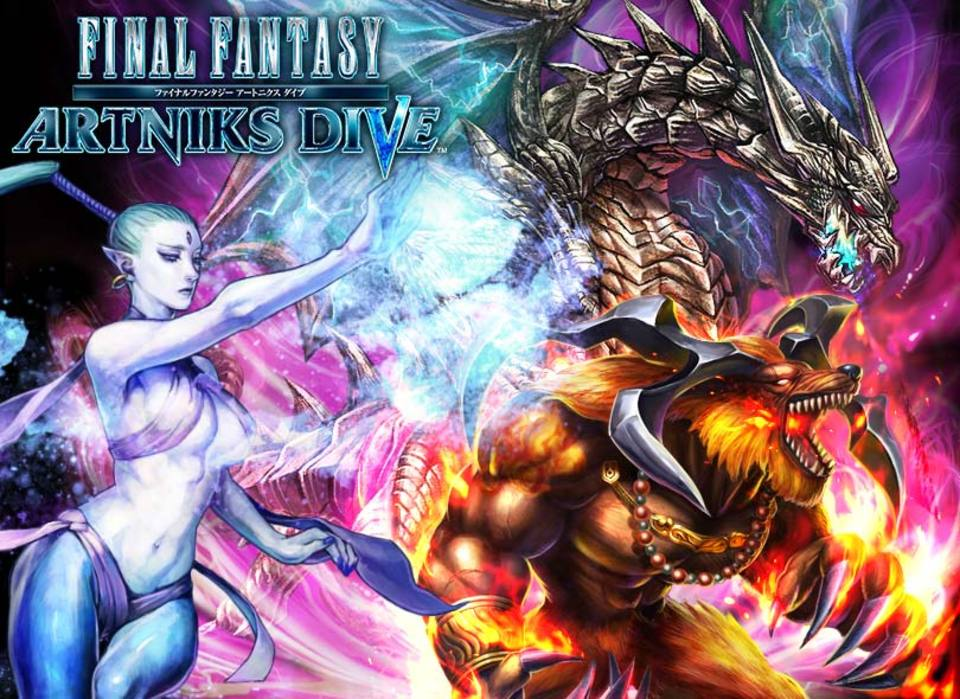 "New Final Fantasy title ""Artniks Dive"" announced for Japanese mobile phones"