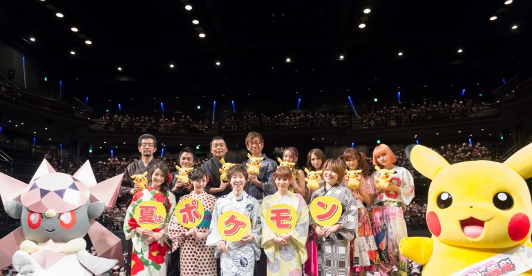 Mayu Watanabe, Shoko Nakagawa promoting Pokemon XY movie in yukata