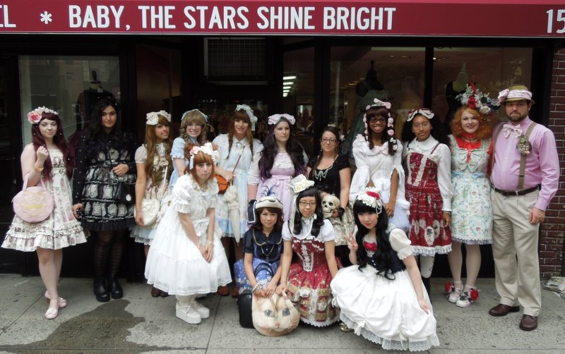 Japanese lolita style takes on New York