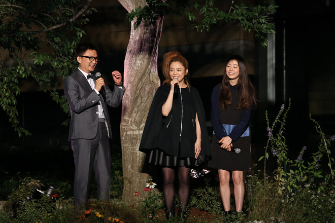 Chara and daughter SUMIRE promote new fashion brand 'KOE'