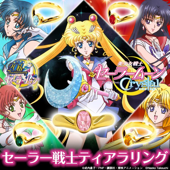 Sailor Moon Crystal gets 1m views + preordering open for rings and costumes