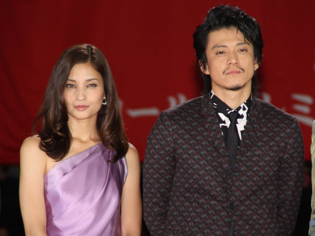 Oguri Shun and Kuroki Meisa Attend Lupin III Premiere
