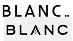 Top: Japanese 'BLANC' logo Bottom: Jessica's 'BLANC' logo