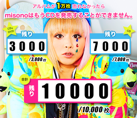 Misono's New Album Sells Estimated 4,000 Copies on the First Day