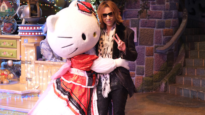 Yoshiki attends 40th Anniversary Hello Kitty parade