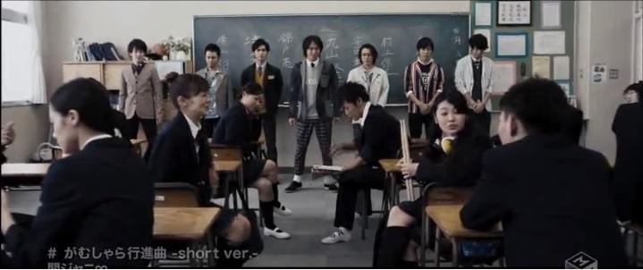 "Kanjani∞ as Teachers in new amusing PV ""Gamushara Koshinkyoku"""