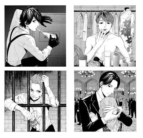 Manga artist Shimotsuki Kayoko illustrates KAT-TUN as spies