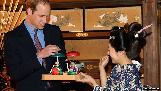 Inoue Mao meets Prince William