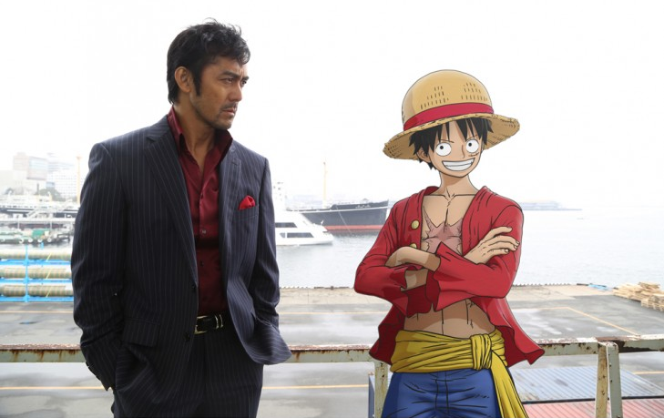 Abe Hiroshi co-stars with One Piece's Luffy in a drama special