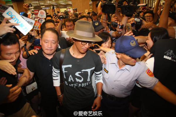 Kimura Takuya arrives for his first Taiwan visit for tourism film