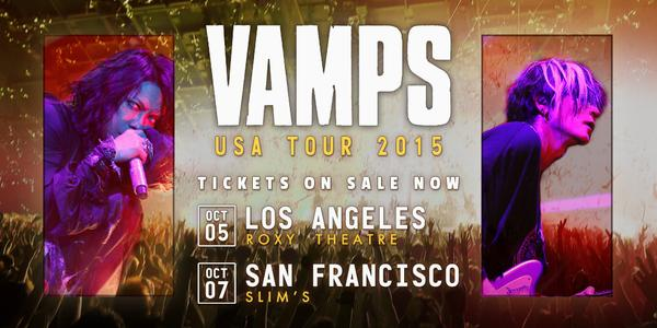 Vamps to Perform 2 Shows in L.A. and San Francisco this October