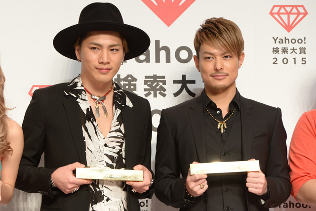 Sandaime J Soul Brothers Win the Grand Prize at the Yahoo! Search Awards 2015