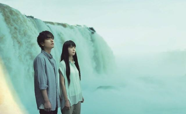 "Sato Takeru and Miyazaki Aoi films at Iguazu Falls for ""If Cats Disappeared From the World"" Movie"