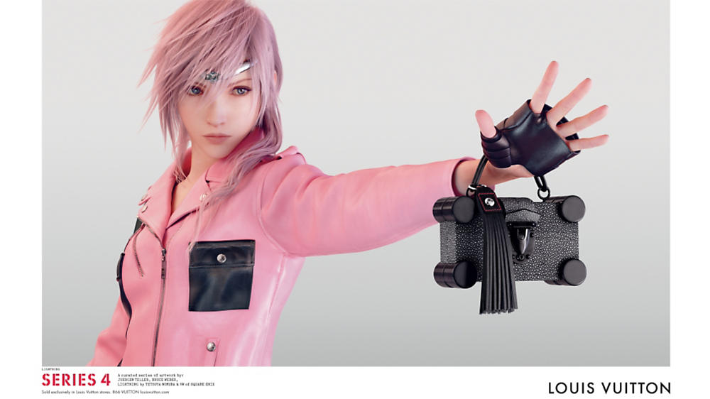 "Lightning from ""Final Fantasy"" Stars in Louis Vuitton's Spring/Summer 2016 Ad Campaign"