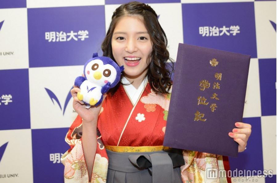 Umika Kawashima graduates from Meiji University