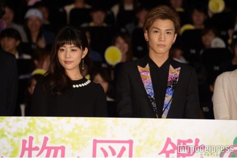 Mitsuki Takahata and EXILE/Sandaime J Soul Brothers' Takanori Iwata attend Premiere for Shokubutsu Zukan