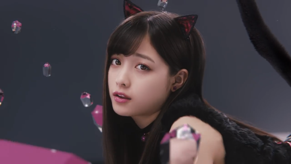 kanna hashimoto transforms into a cat for new cm campaign arama