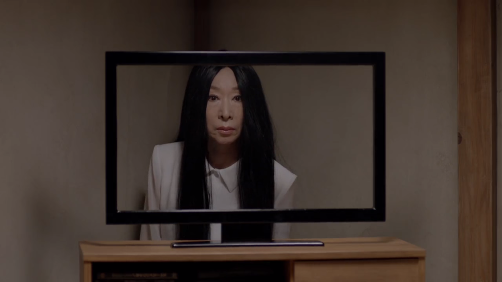 Sadako freaks out in new Snickers CM