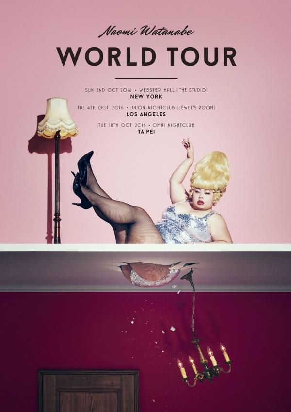 Naomi Watanabe is going on World Tour! New York, Los Angeles, and Taipei