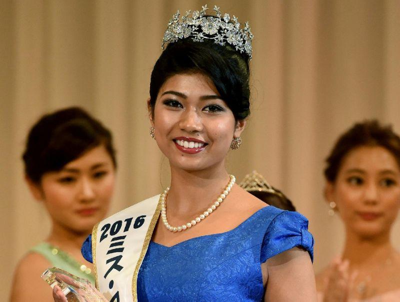 Japanese Indian Priyanka Yoshikawa Crowned Miss Japan
