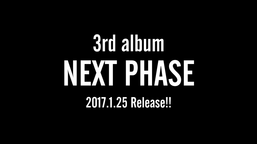 "Da-iCE announces new album ""NEXT PHASE"" for January 2017"
