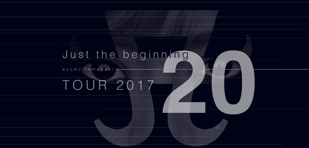 "Ayumi Hamasaki announces new tour ""Just the beginning -20- TOUR 2017"""