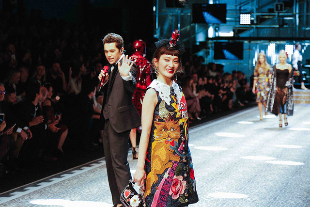 KOM_I of Suiyoubi no Campanella Walks the Dolce & Gabbana Runway