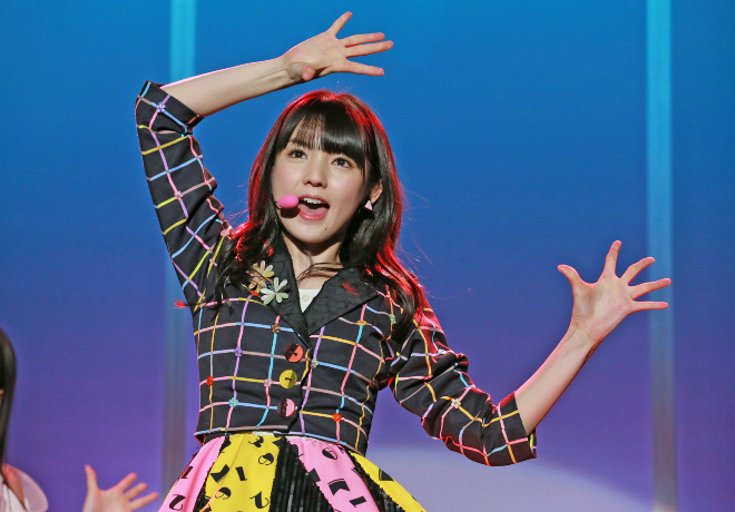 Sayumi Michishige makes her return to the stage