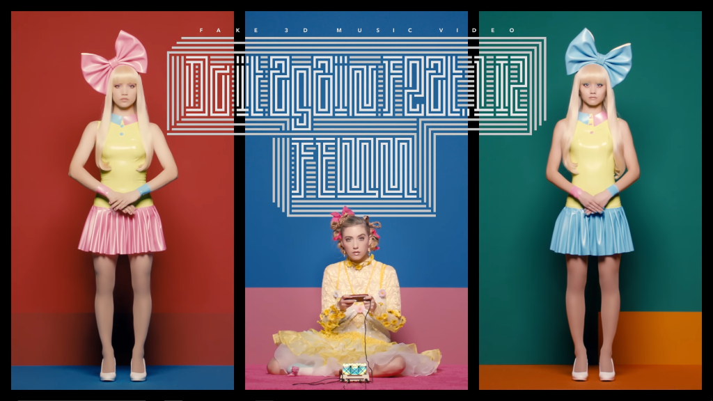 "FEMM and LIZ jump out of your screen in ""Do It Again"" fake 3D MV"