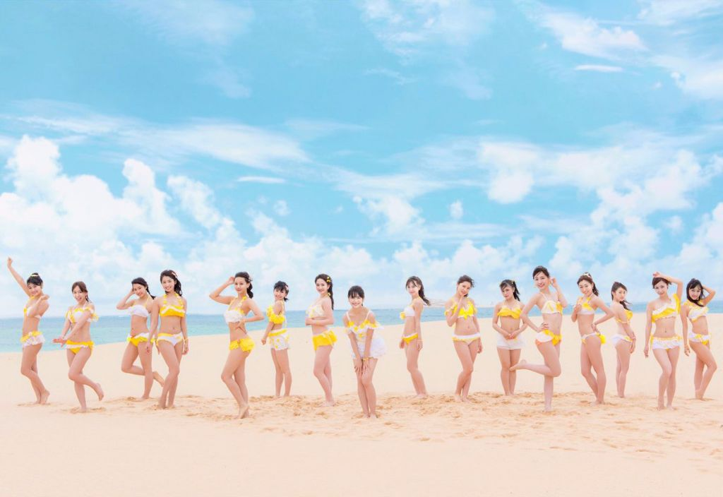 "SKE48 hit the beach in Taiwan for new PV ""Igai ni Mango"""