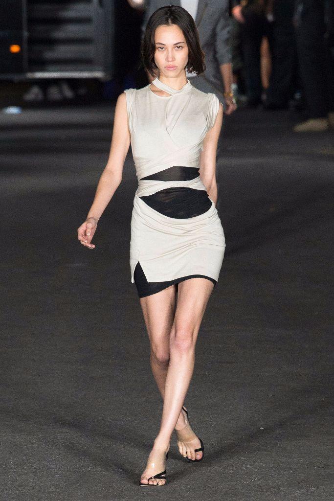 Kiko Mizuhara Models in the Alexander Wang Fashion Show