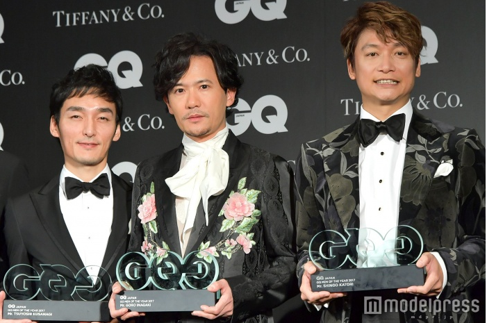 Shingo Katori, Tsuyoshi Kusanagi, & Goro Inagaki steal the show at GQ Men of The Year Awards