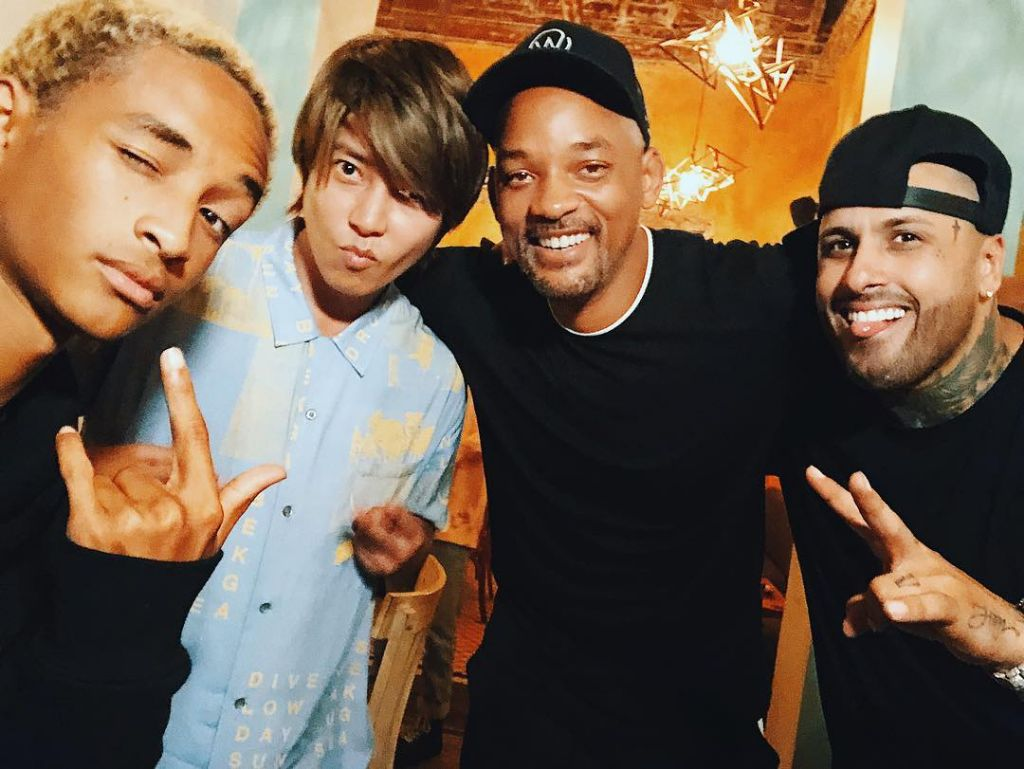 Yamashita Tomohisa Appears on Will Smith's Instagram