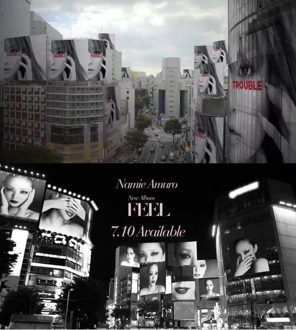 "CM for Ayumi Hamasaki's ""TROUBLE"" draws comparison to Namie Amuro's ""FEEL"""