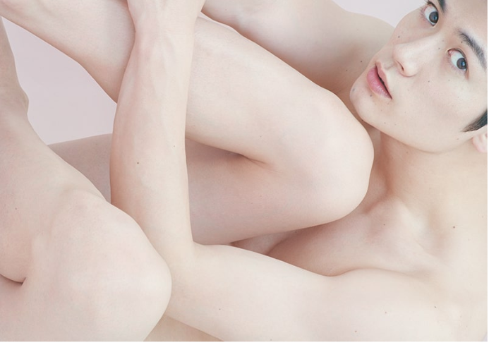 "Haruma Miura shows off his moles & naked body in new CM for ""ORBIS DEFENCERA"""