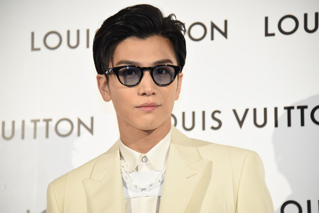 Takanori Iwata attends pop-up for new Louis Vuitton store