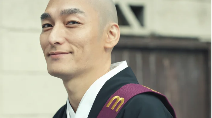 Tsuyoshi Kusanagi is bald in new CM for Mercari