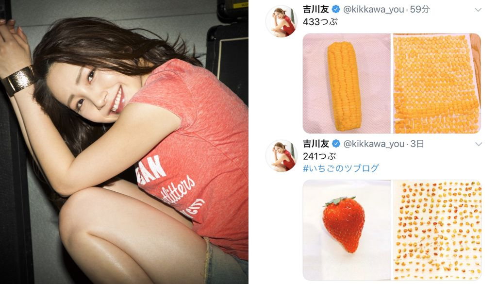 Kikkawa You goes viral for debuting quarantine hobby of counting pieces of food