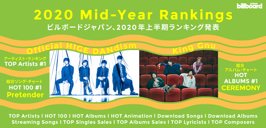 Billboard Japan Releases Its 2020 Mid-Year Charts