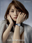 Haruna Kawaguchi models for Armani's 2021 Spring/Summer collection